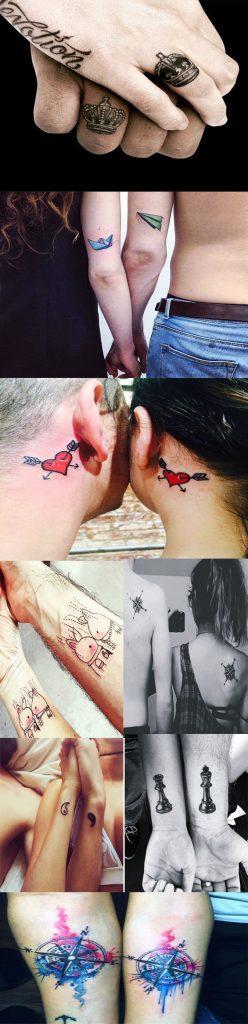 25 tatouages correspondants pour les couples. Black Bedroom Furniture Sets. Home Design Ideas