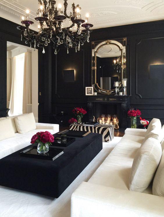 Décoration noir et blanc pour salon en 27 idées qui plaisent ...
