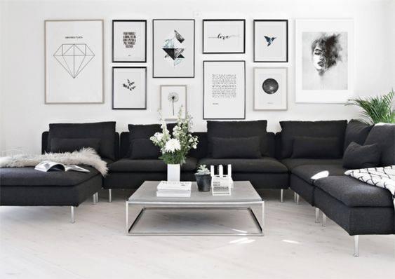 Décoration noir et blanc pour salon