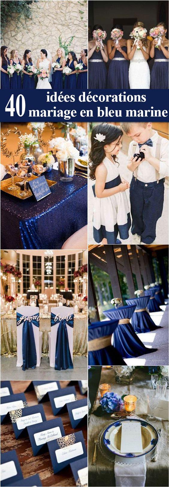 10 Decorations De Mariage En Bleu Marine