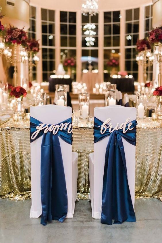 décorations mariage en bleu marine 10