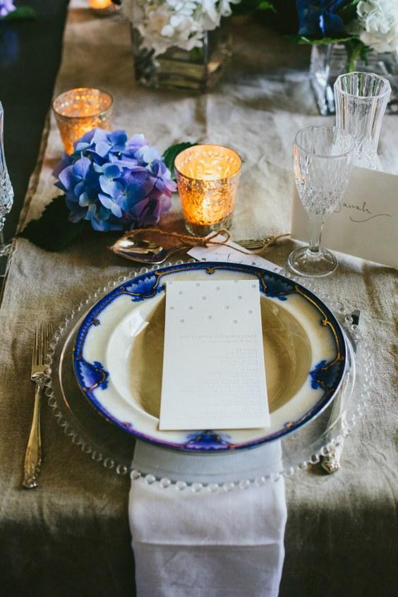 décorations mariage en bleu marine 12
