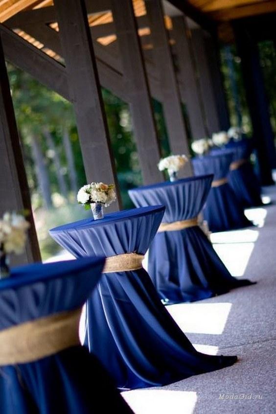 décorations mariage en bleu marine 13