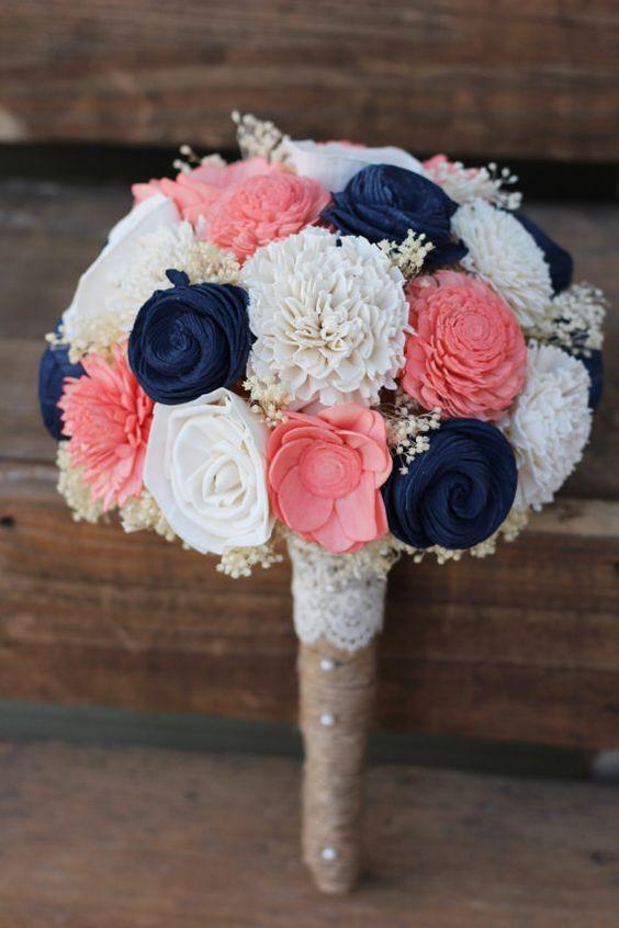 décorations mariage en bleu marine 14