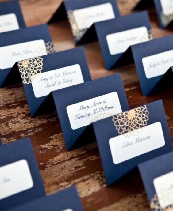 décorations mariage en bleu marine 15