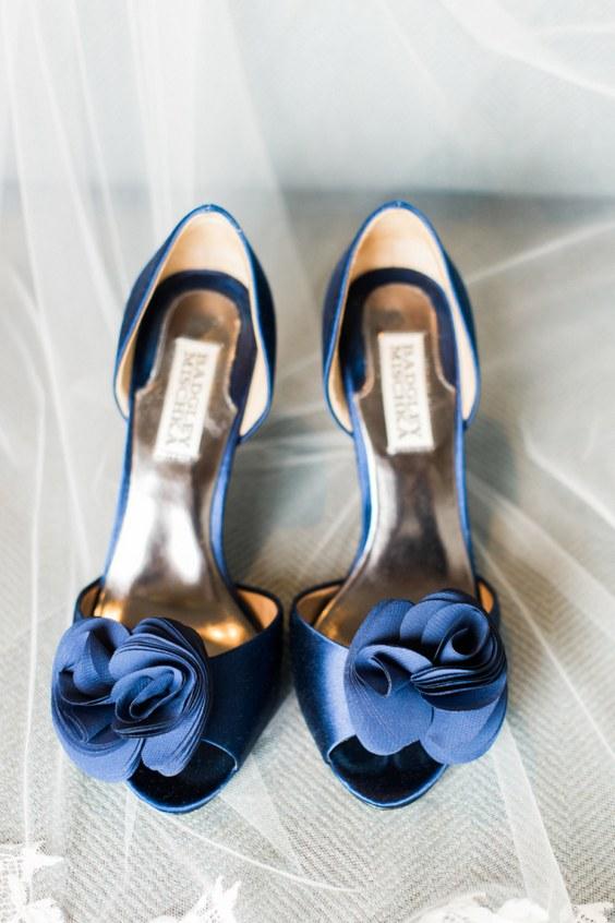 décorations mariage en bleu marine 18