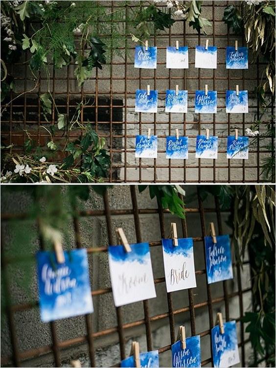 décorations mariage en bleu marine 19