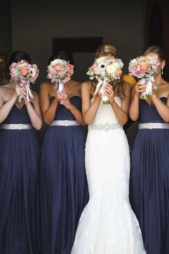 décorations mariage en bleu marine 2