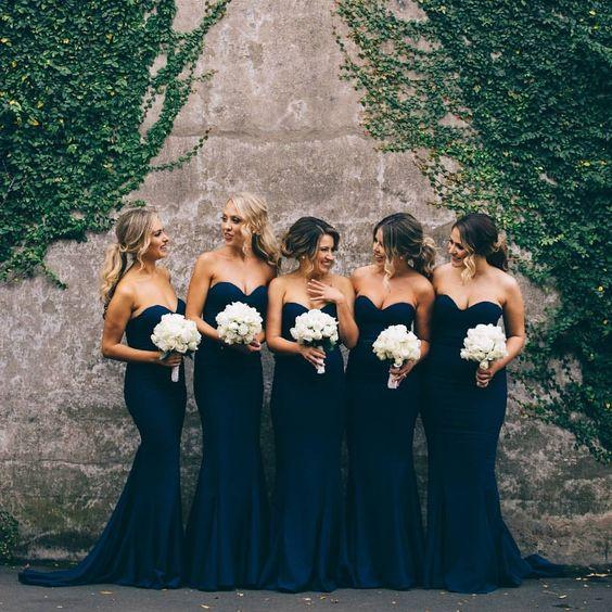 décorations mariage en bleu marine 20