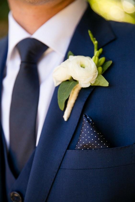 décorations mariage en bleu marine 21