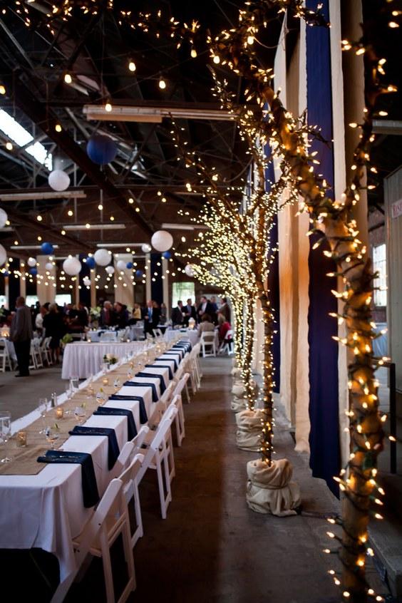 décorations mariage en bleu marine 23