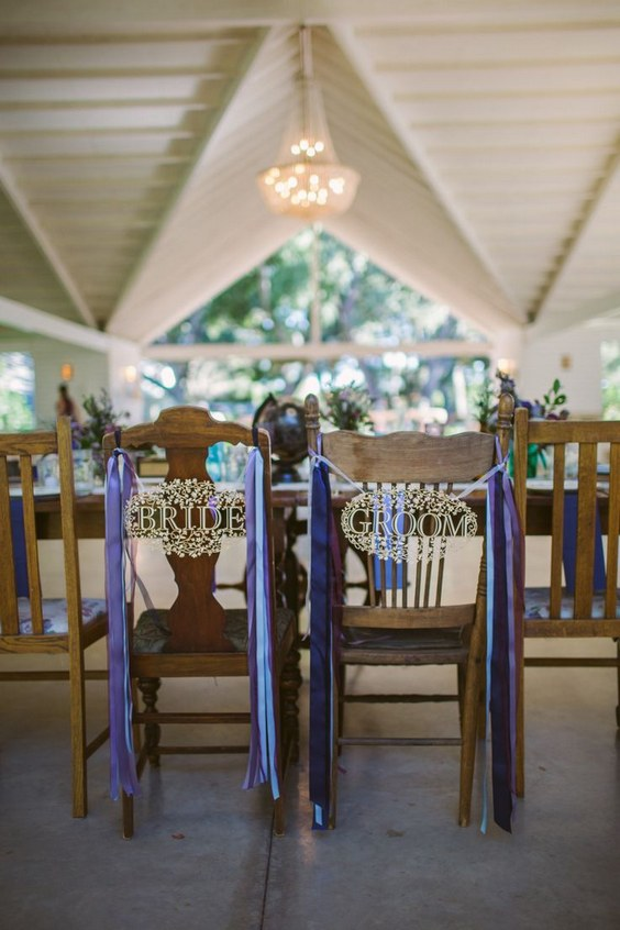 décorations mariage en bleu marine 26