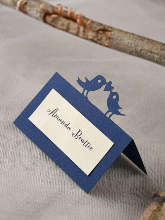 décorations mariage en bleu marine 29