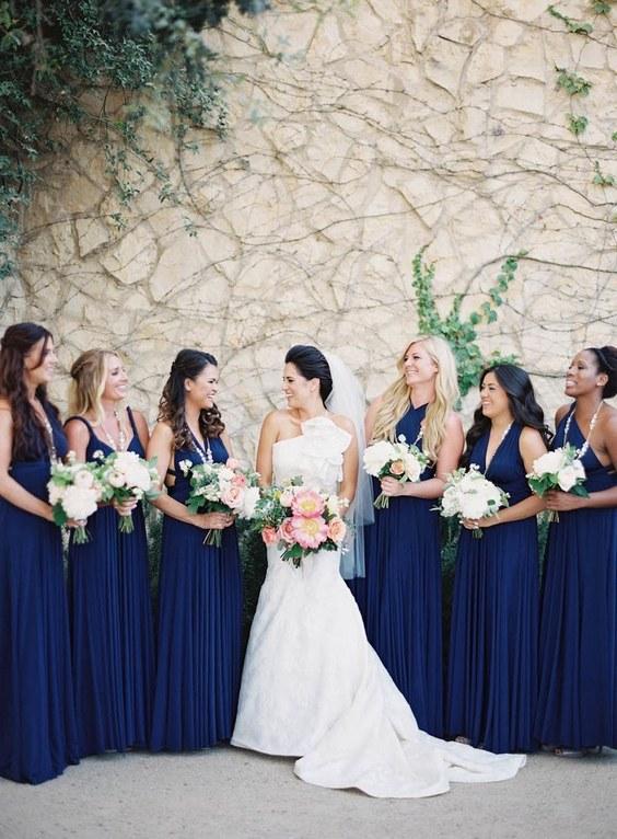 décorations mariage en bleu marine 3