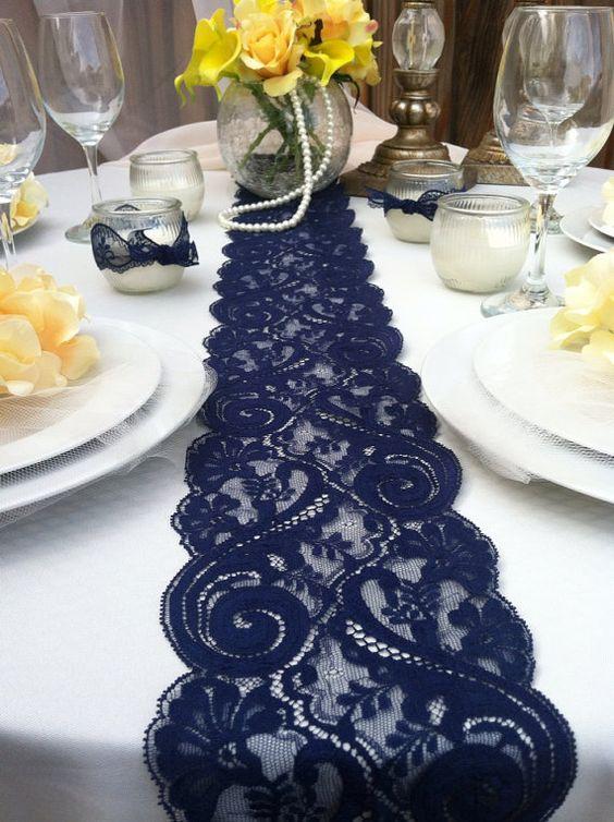 décorations mariage en bleu marine 30