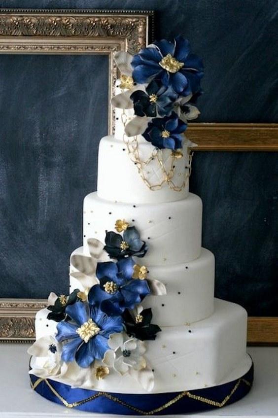 décorations mariage en bleu marine 41