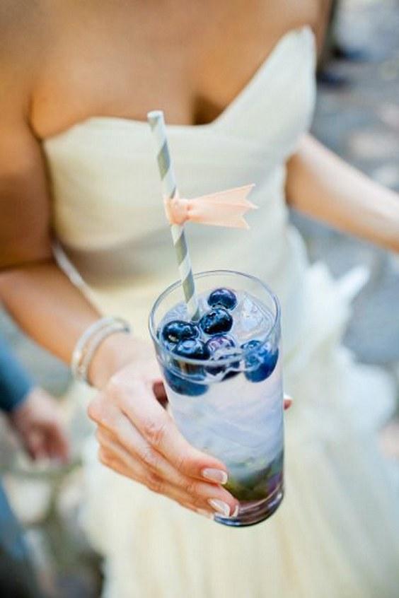 décorations mariage en bleu marine 7