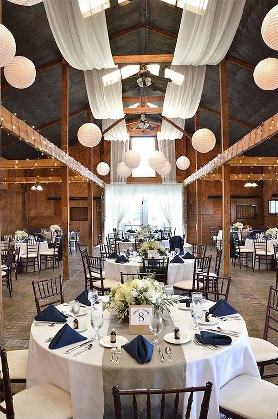 décorations mariage en bleu marine 9