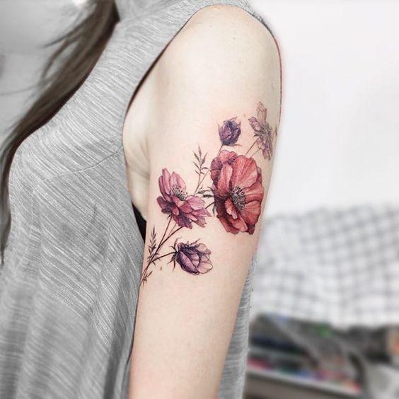 tatouages fleuris