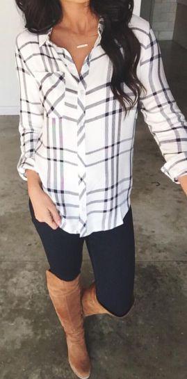 porter une chemise à carreaux