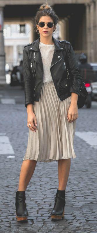 La veste en cuir 24 idées comment la porter