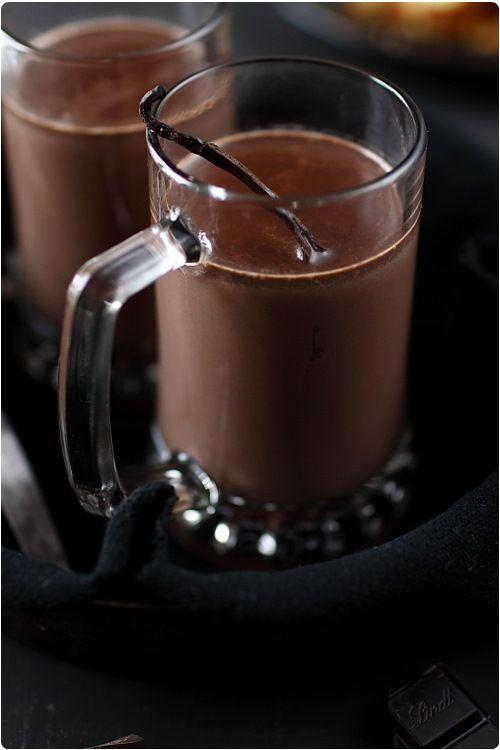 Chocolat chaud à la vanille
