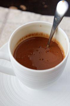 Chocolat chaud onctueux à la vanille