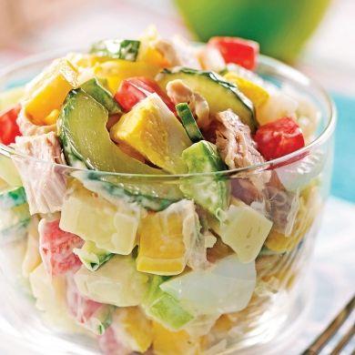 Salade de thon à la mangue