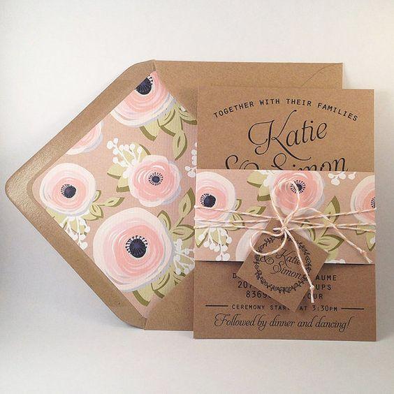 cartes d'invitation de mariage