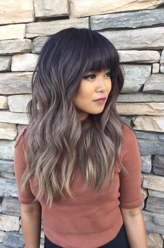 cheveux avec frange