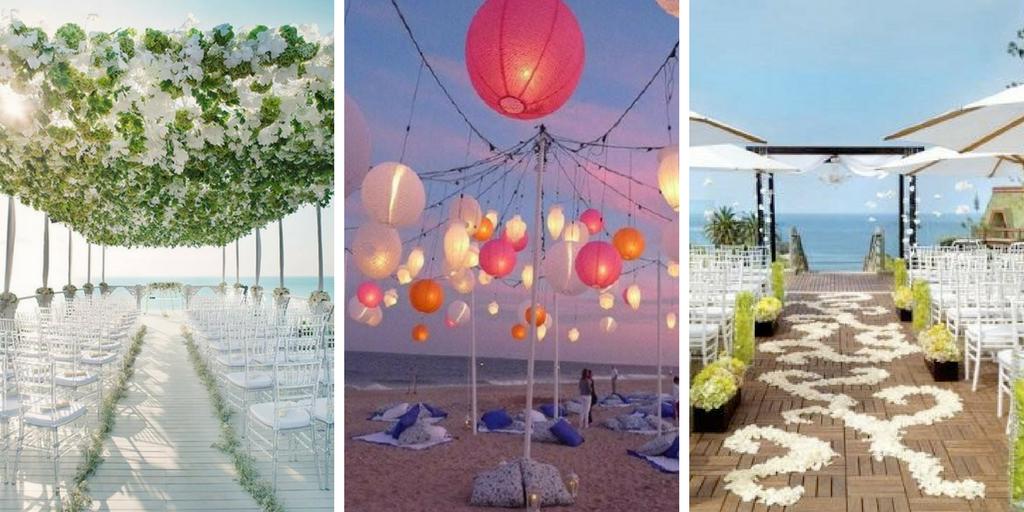 13 id es de d coration pour un mariage au bord de la mer - Decoration mer pour mariage decoration mer ...
