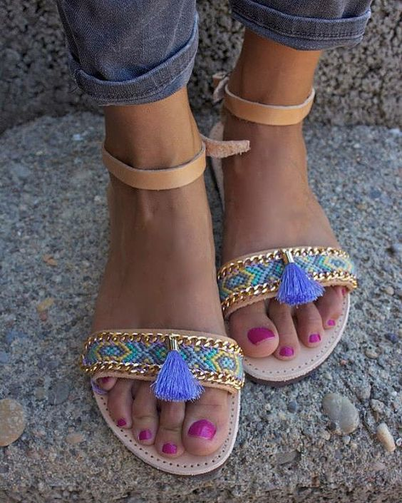 sandales plates pour femme