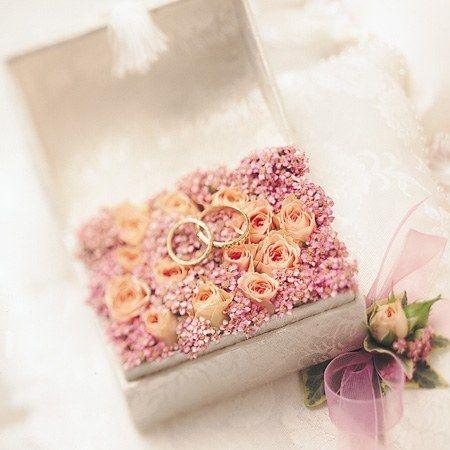 Boîte de bague de mariage