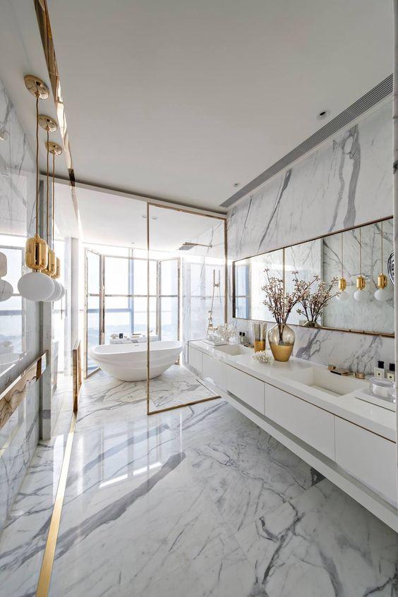 20 id es de d coration pour une salle de bains moderne - Idee de salle de bain moderne ...