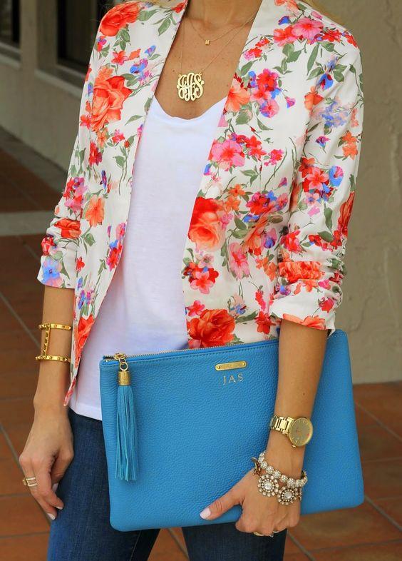 vestes fleuries pour femme
