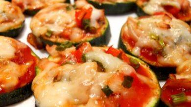 pizzas de courgettes