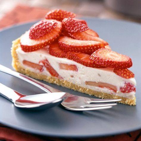 tarte à la crème de yogourt et à la fraise