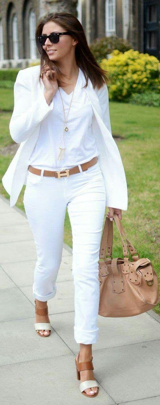 15 id es pour une tenue avec pantalon blanc fantastique. Black Bedroom Furniture Sets. Home Design Ideas