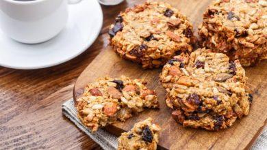 cookies aux fruits secs et flocons d'avoine