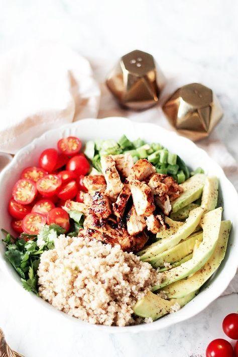salade composée au poulet et miel