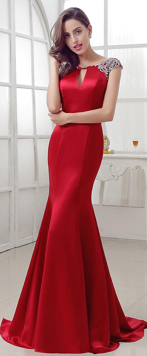 robes soirée rouge tendance 2018