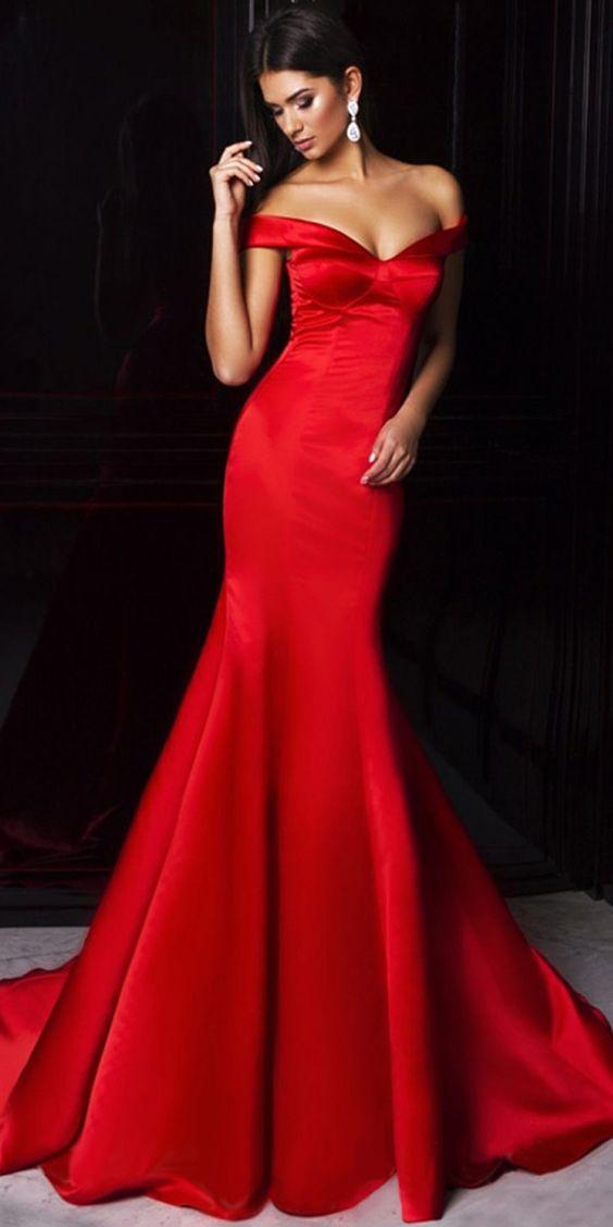 c4eef6b9f5b52 robes soirée rouge tendance 2018 robes soirée rouge tendance 2018 ...