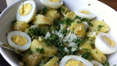 salade de pommes de terre au thon et œufs durs