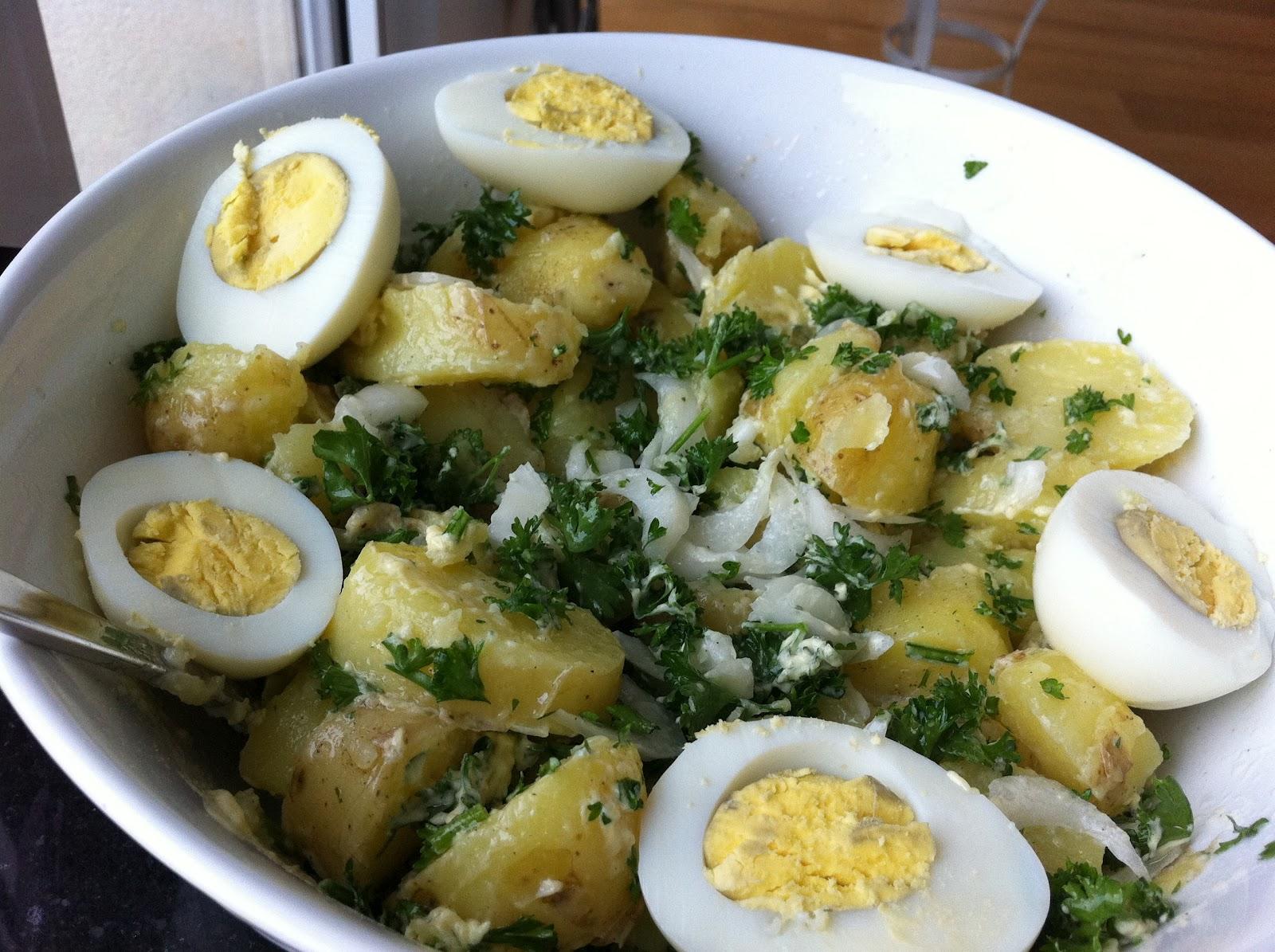 Recette De Salade De Pommes De Terre Au Thon Et œufs Durs Facile A Faire