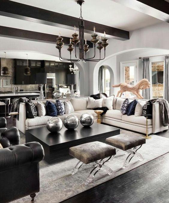 32 plus beaux mod les du salon moderne pour 2018 autour de la france. Black Bedroom Furniture Sets. Home Design Ideas