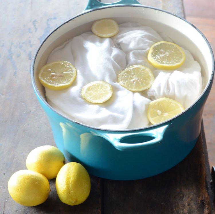 Le citron pour blanchir facilement du linge
