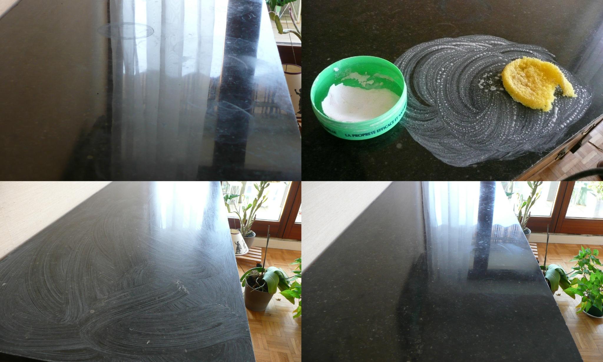 Pierre d'argile pour nettoyer le marbre