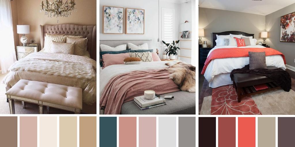 Les meilleurs combinaisons de couleurs pour les chambres à coucher
