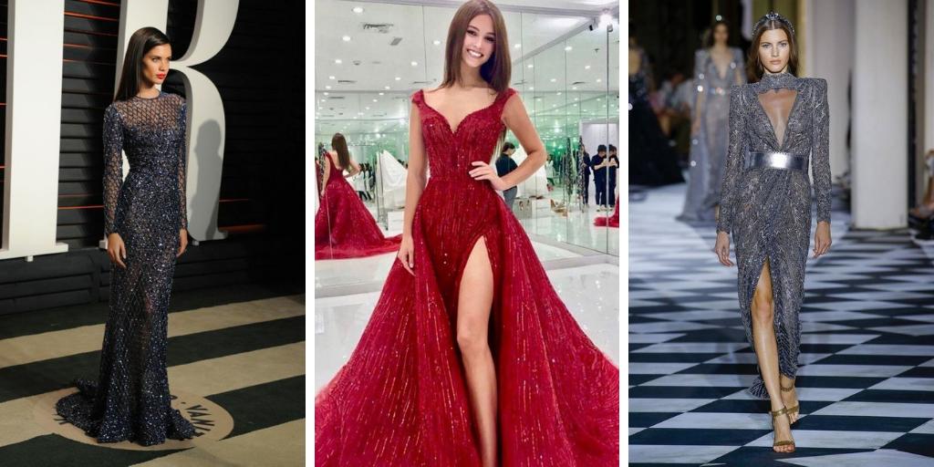 34 modèles de robes soirée modernes tendance 2019 , Autour