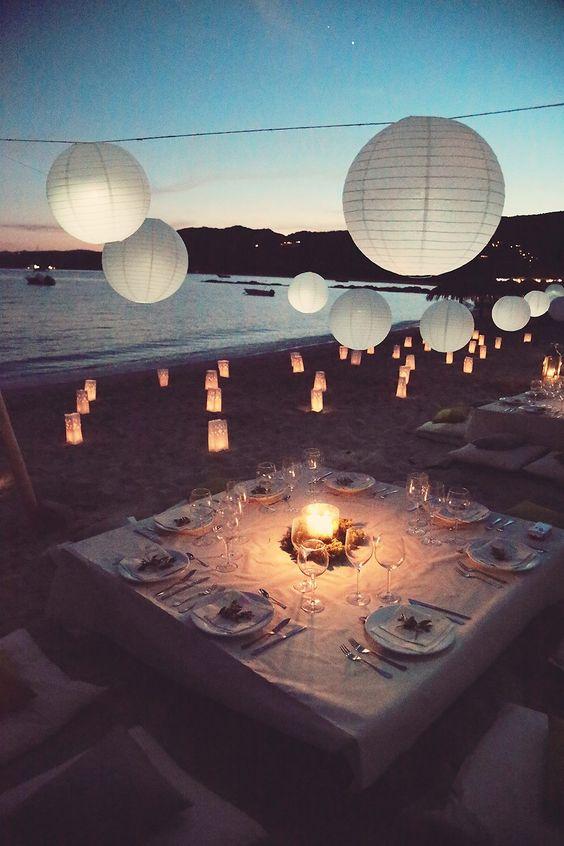 décorations pour une soirée d'été magique